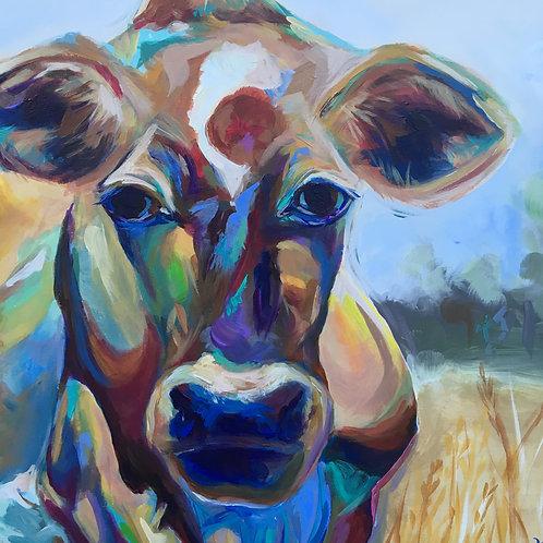 """Kansas Cow 18"""" x 9"""""""