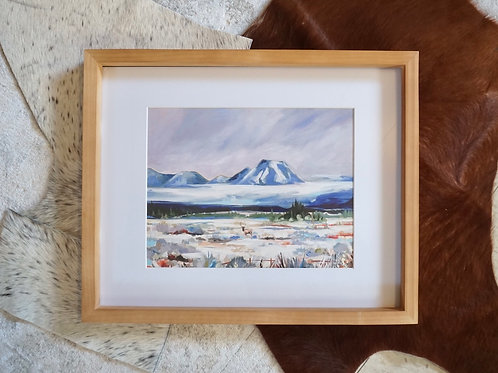 "Roaming Elk Fine Art Print 11""x14"""