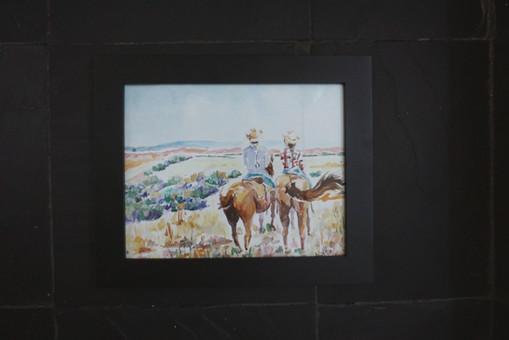 On Horseback in Wyoming