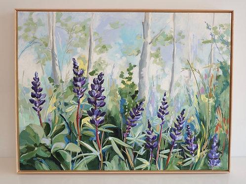Beneath The Aspen Canvas Print