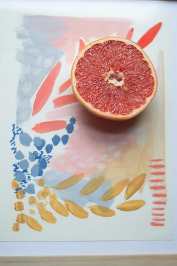 Grapefrut on Abstract