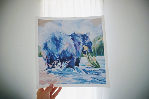 """Grizzly Print 20""""x20"""""""