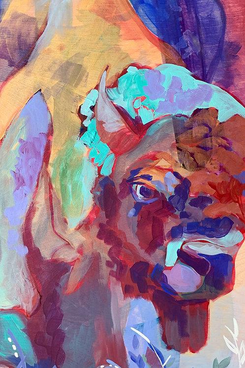 """Red Bison Fine Art Print 11""""x14"""""""