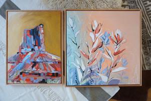 Desert Mosaic and Indian Paintbrush