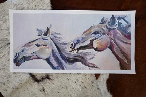 Wild Horses Fine Art Print 18x9