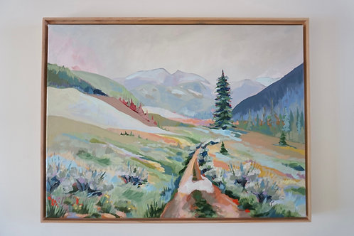 Puddle Path Original Painting