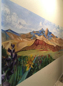 Mural of a Wyoming Landscape