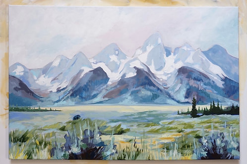 Spring Tetons Canvas Print