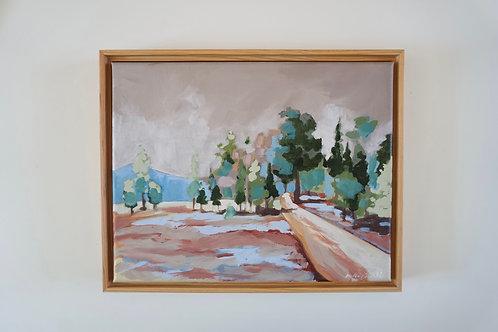 Evergreen Island Original Painting
