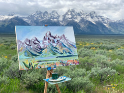 Teton Plein Air Painting