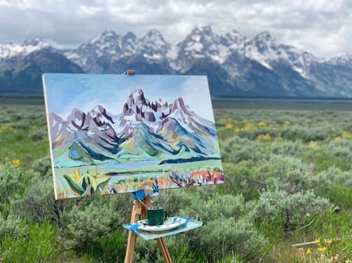 Tetons Plein Air Painting