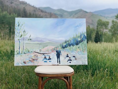 Wedding Painting Granby Colorado