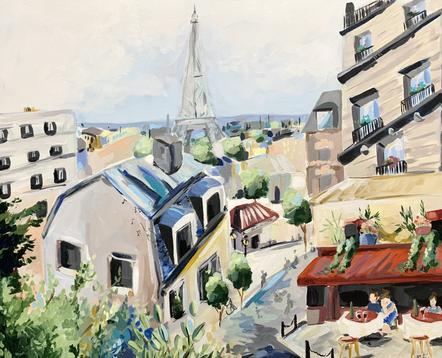 Scenes of Paris Live Painting at the Bri
