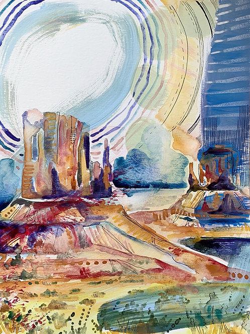 "Monument Valley Fine Art Print 11""x14"""
