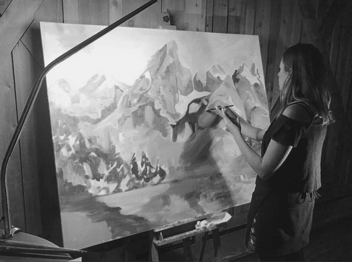 Live Painting at Devils Thumb Ranch