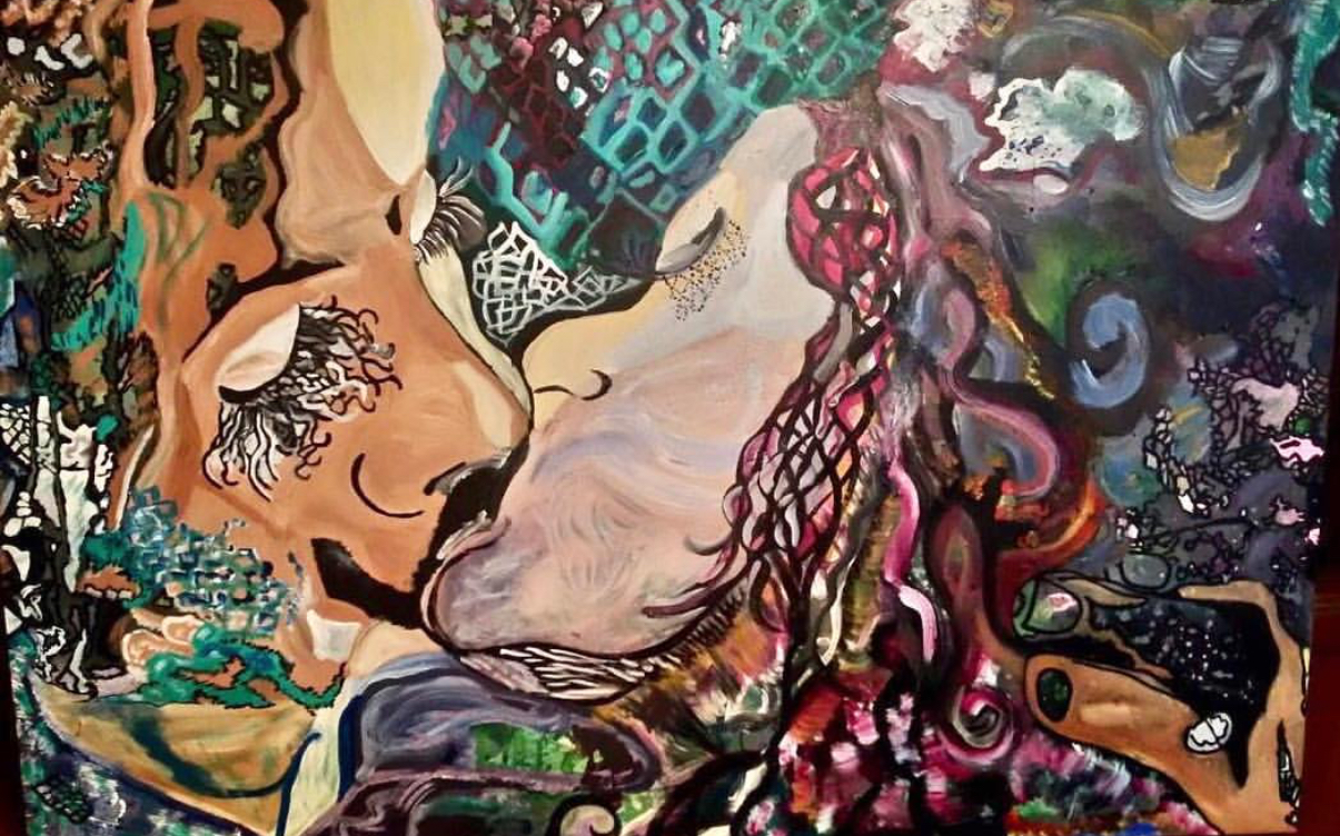 ANA GOULART - 380 - THE KISS - 50 X 70 -