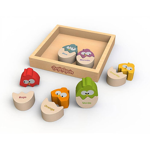 Color n' Eggs Matching Puzzle - Bilingual