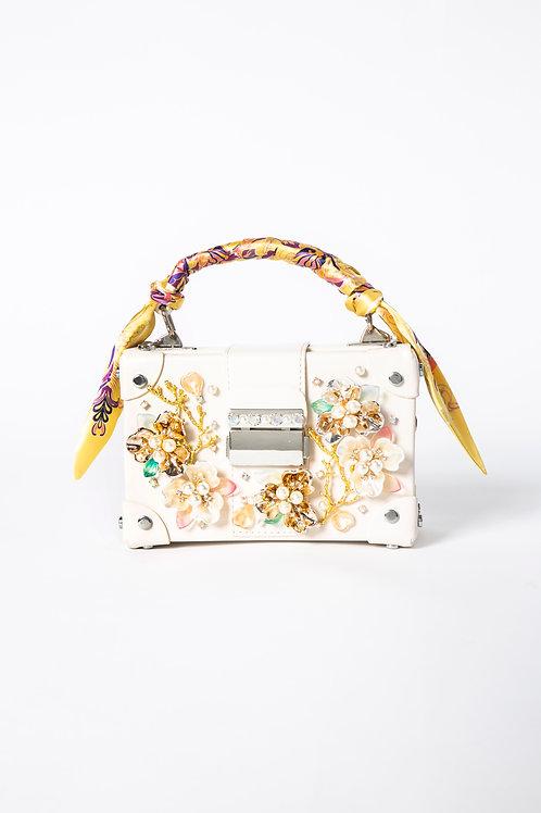 PEDDA MARRI WHITE BOX BAG (The Mid Summer Night Dream Collection)
