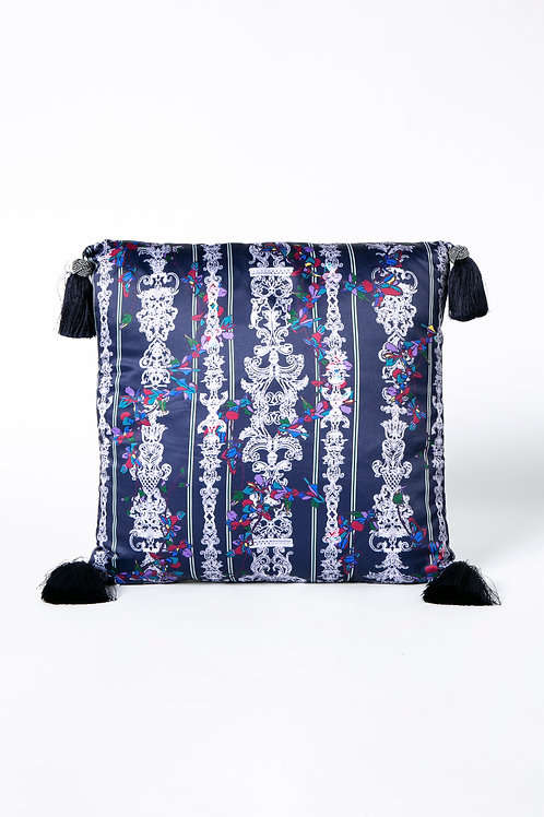 PEDDA MARRI CUSHION - navy  (The Enchanted Garden Collection)