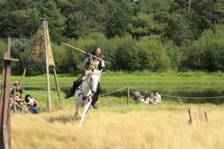 Joute et entrainement du chevalier.