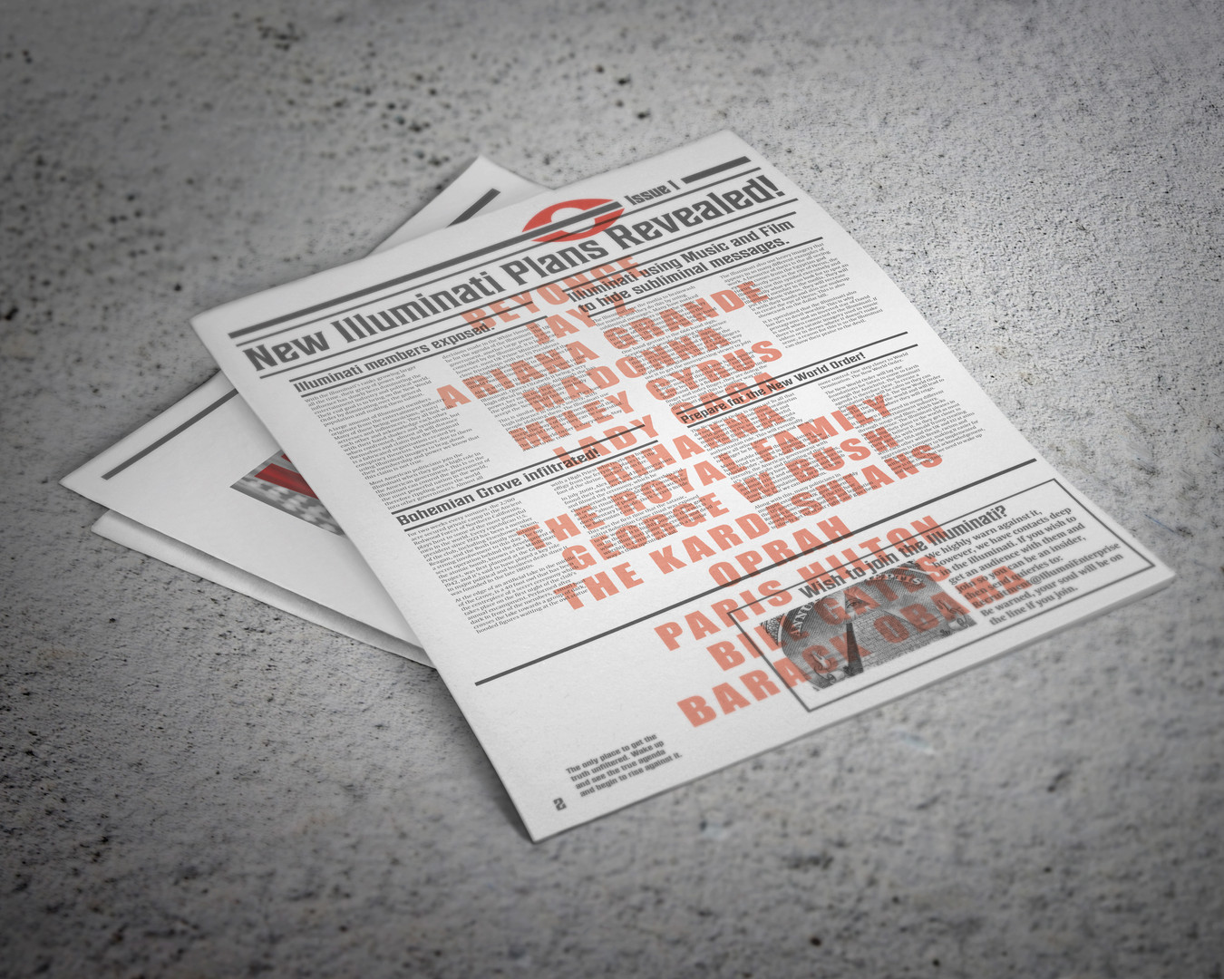 Newspaper Page Example