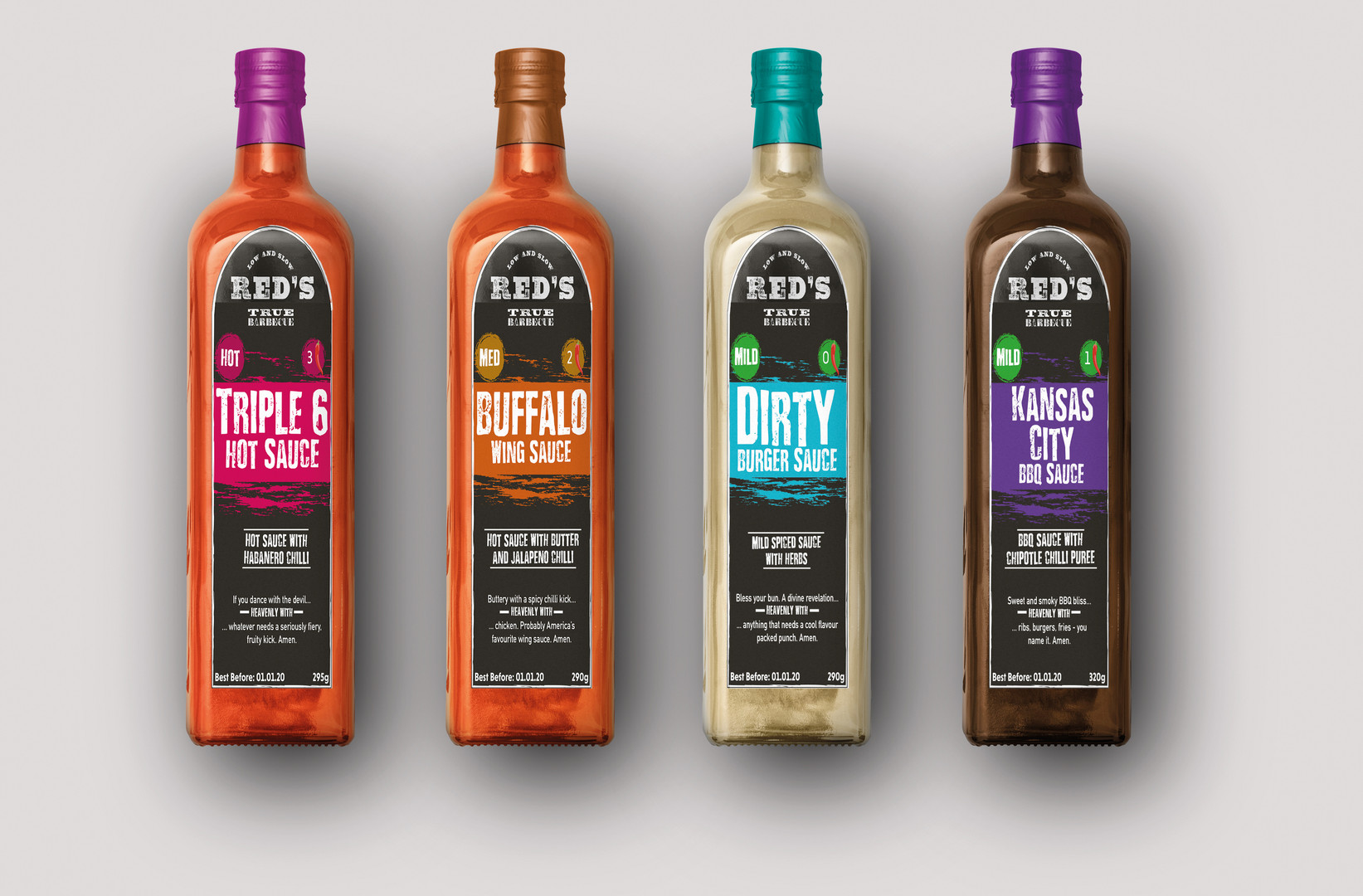 Sauce Bottles Front