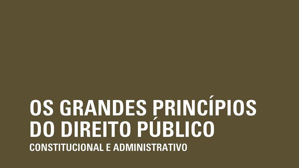 GRANDES PRINCIPIOS DO DIREITO PUBLICO