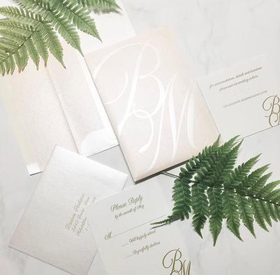 Soft & Subtle Foil and Letterpress Invitation