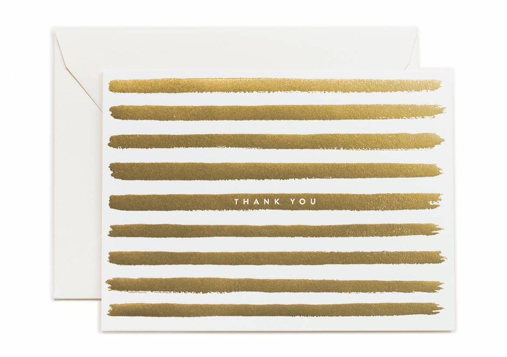 Gold Stripe Thank You Notes from Rifle Paper Co.