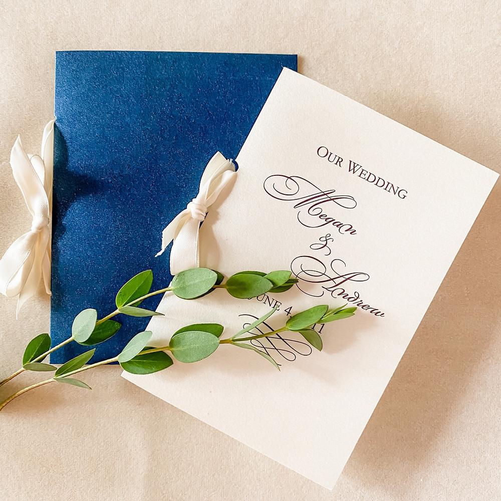 Pocket-sized Wedding Programs