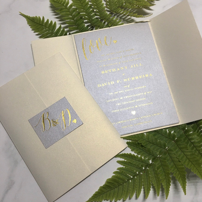 Silver and Gold Foil Luxury