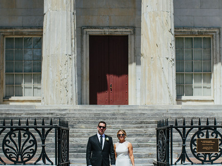 Jessica and Greg's Black & White Philadelphia Franklin Hotel Wedding