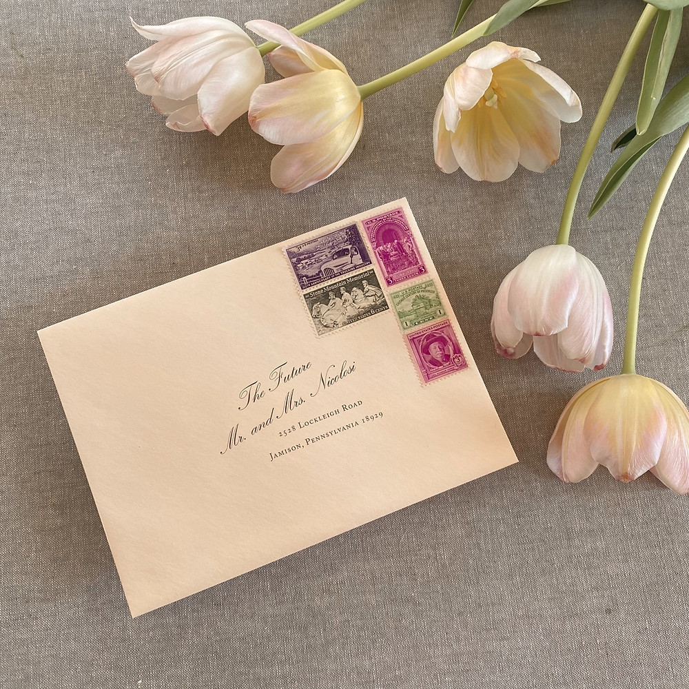 How to address an envelope to an engaged couple