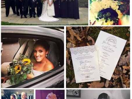 Real Bride: Sunflowers and Lace