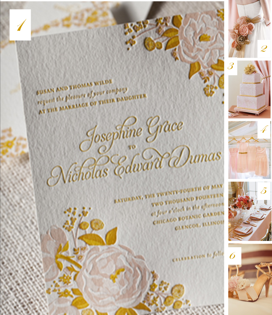 Pink & Gold Inspired Wedding