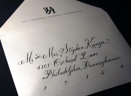 Top Three Tips: Addressing Your Wedding Invitations