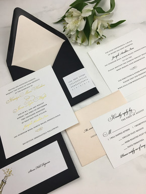 Blush, Black and Gold Foil