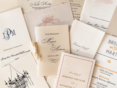 Are Wedding Programs Necessary?Wedding Program Q&A