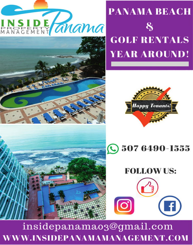 Panama Golf and Beach Rentals Year Round!