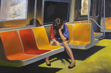 """Q Train."" Pastel by Nigel Van Wieck"