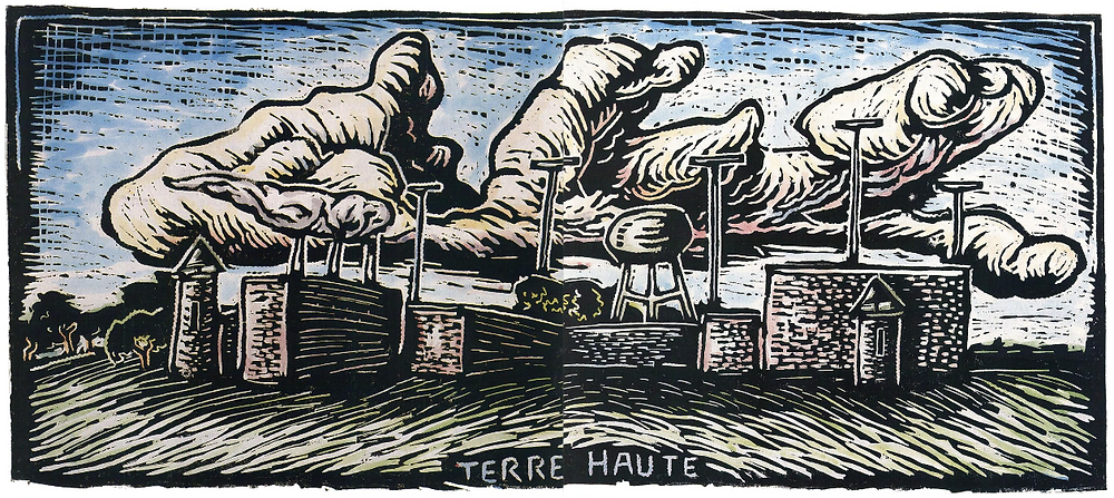 Woodcut by Stephen E. Lewis