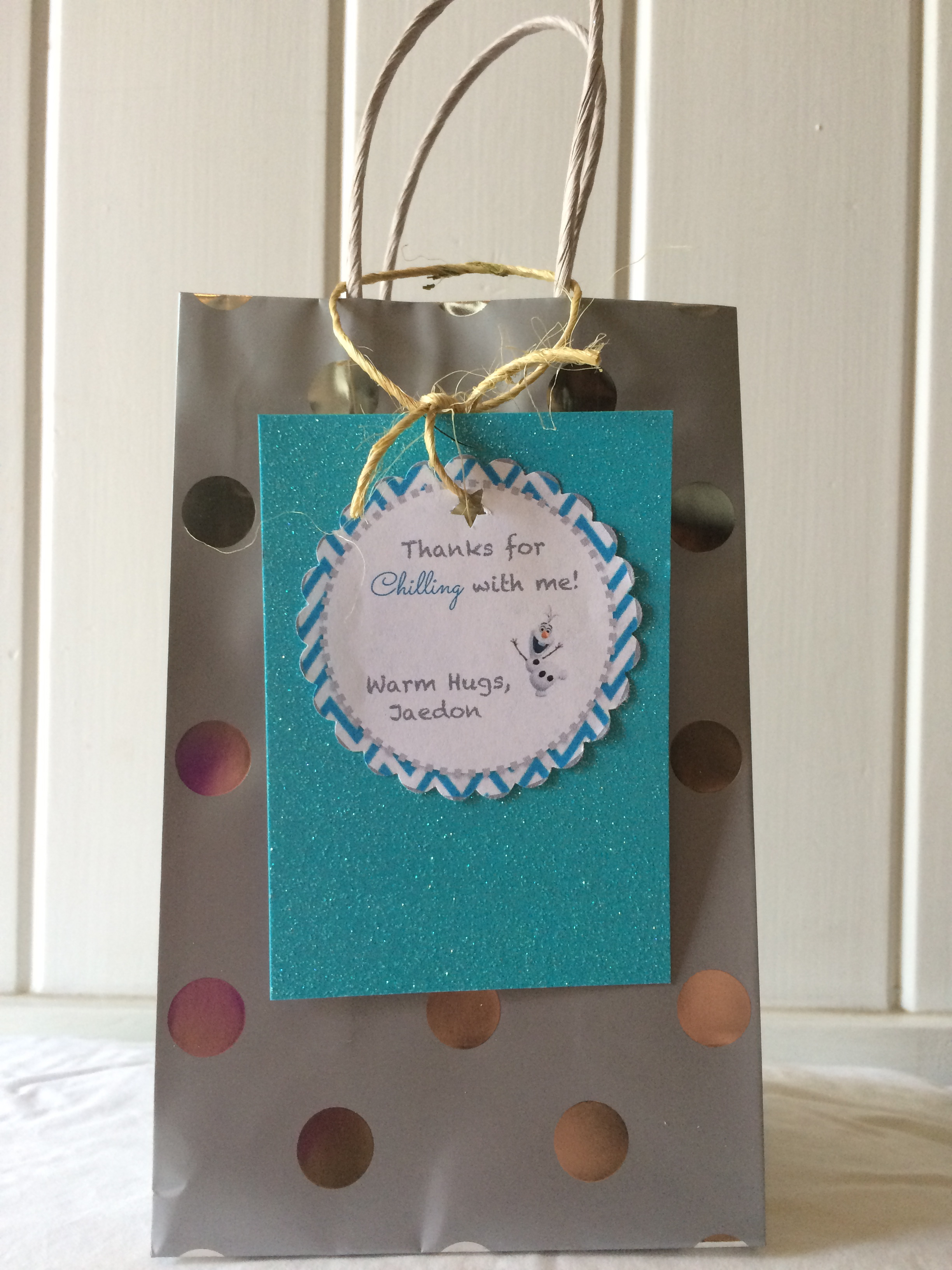 Island Parties - Let It Go Party Favor Bag