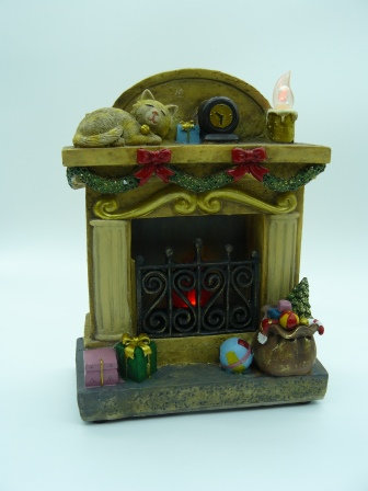 Cat Fireplace LED