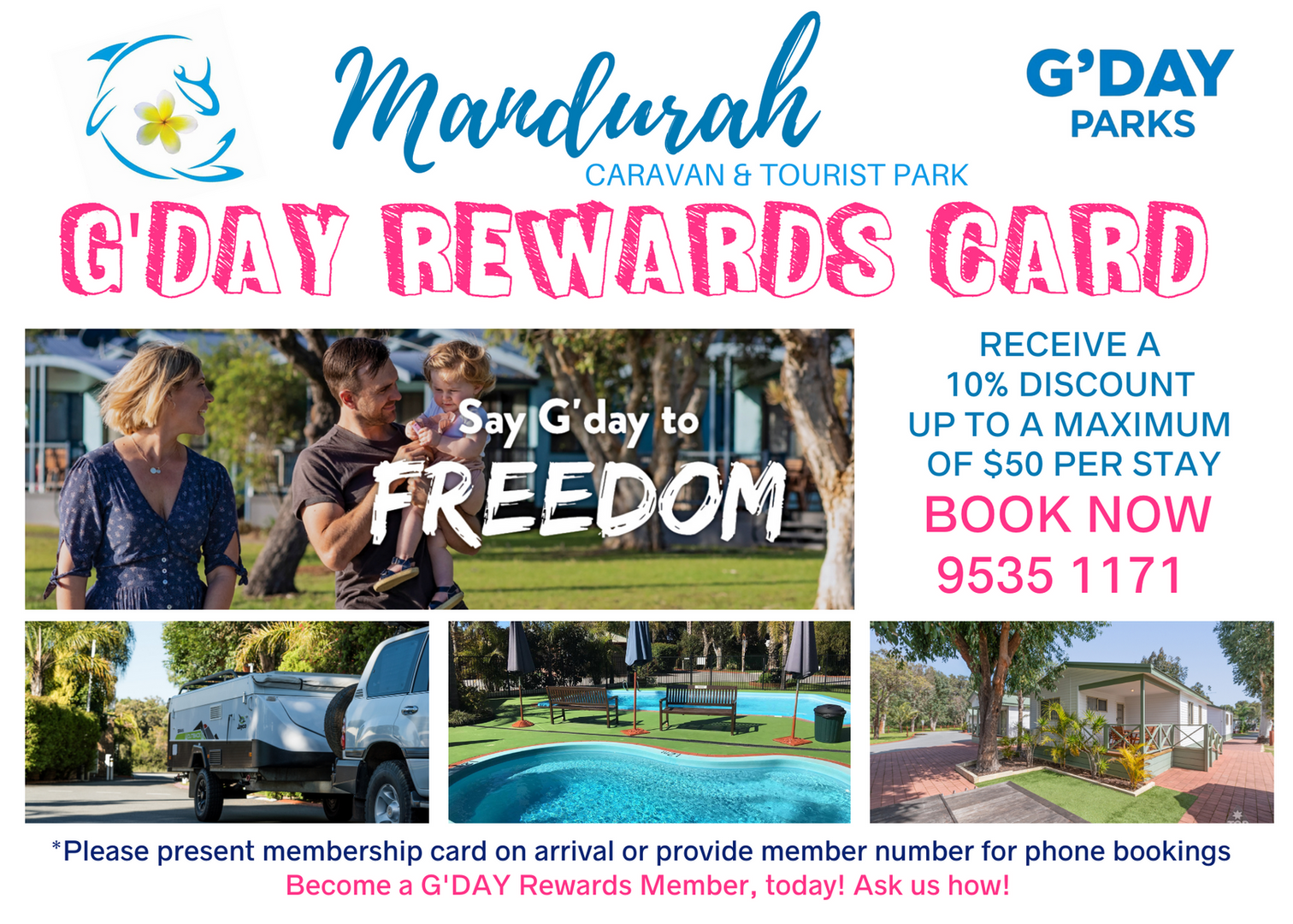 G'Day Parks Reward Card