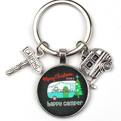 Happy Camper Key Rings