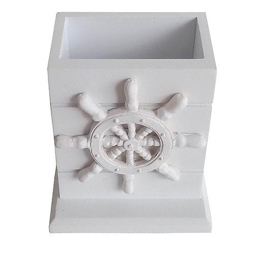 White Wooden Pencil Box