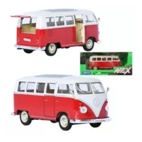 VW 1:24 Alloy Model Bus Kombi - Red