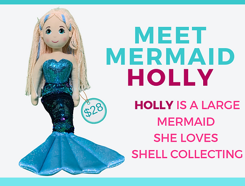 Shimmering Mermaid  HOLLY