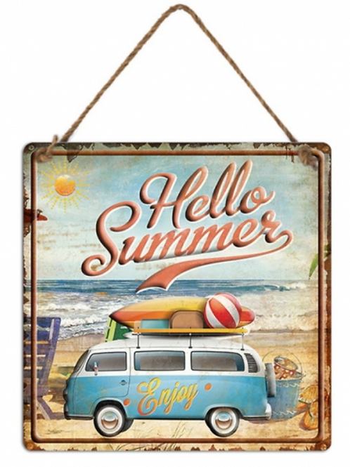 Metal Hello Summer Wall Hanging
