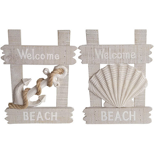 Welcome Beach Plaque (set of two)